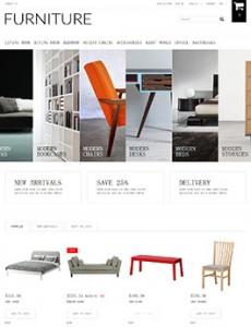简洁家具展示网站
