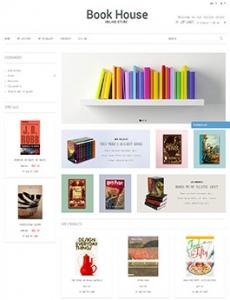 白色简洁的线上书店设计