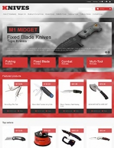汉鼎外贸推广客户案例——海外刀具类网站设计