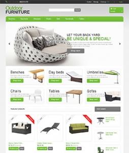 汉鼎外贸推广客户案例——绿色简洁的家具网站设计