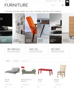 汉鼎外贸推广客户案例——简洁家具展示网站